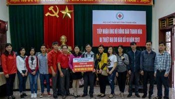 Tổng Công ty ĐTXD & TM Anh Phát ủng hộ bão lụt